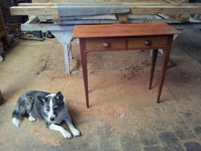 Ironbark hall table with handmade casurina handles