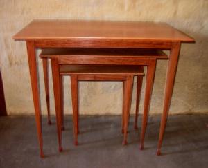 Ironbark nested occasional tables with casuarina feet