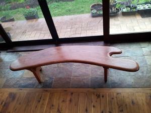 Iron-bark sculptured bench - hand shaped
