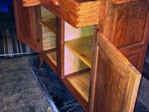 Ironbark with floating casuarina panels and handles. Callitris pine internal panels