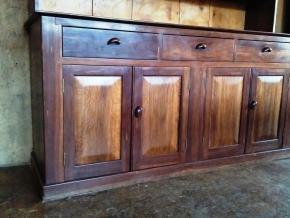 Cupboard doors have Casuarina floating panels, with an Ironbark frame